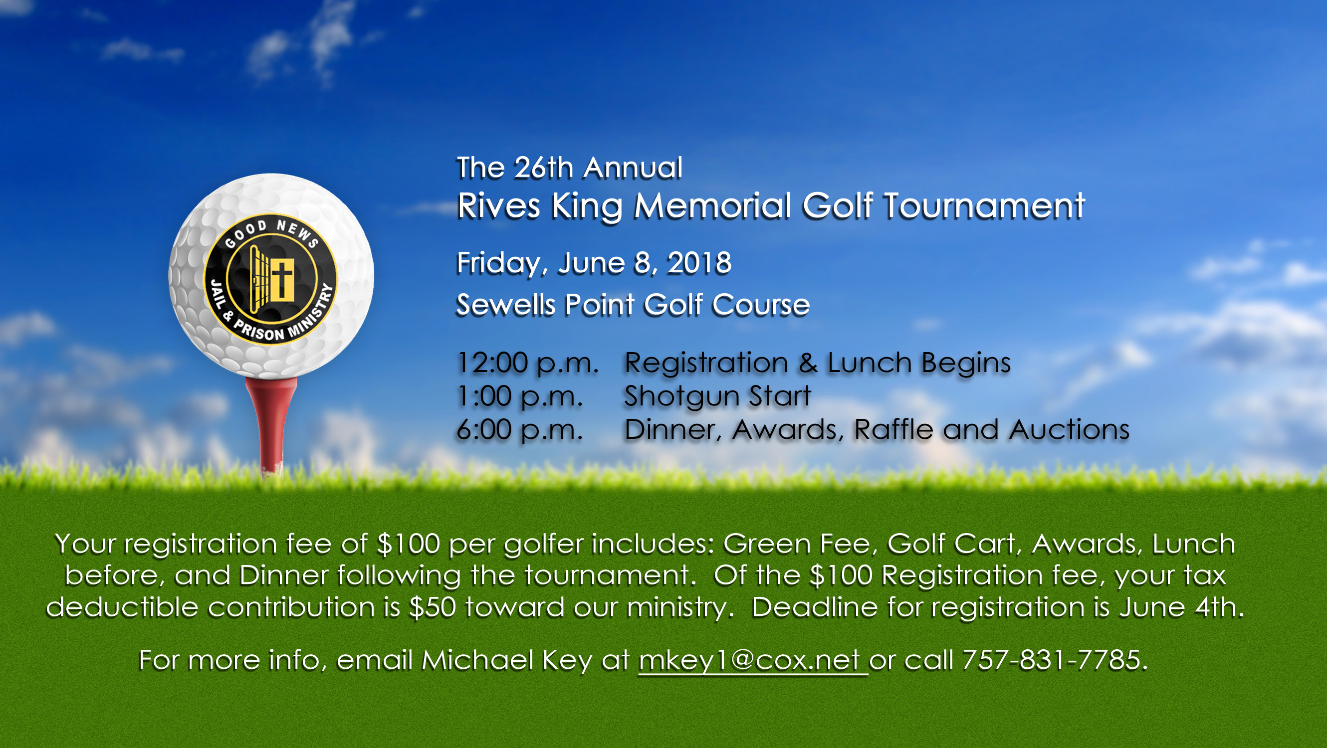 26th Annual Rives King Memoral Golf Tournament